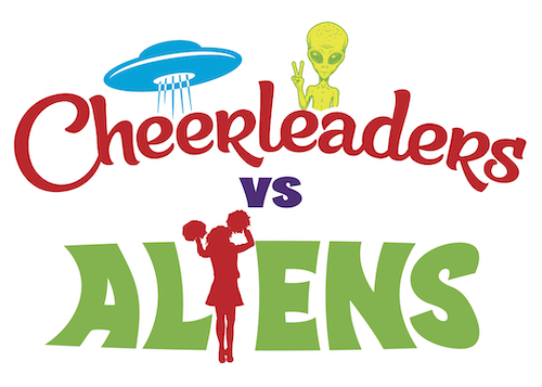 Picture of CHEERLEADERS VS. ALIENS cover art.