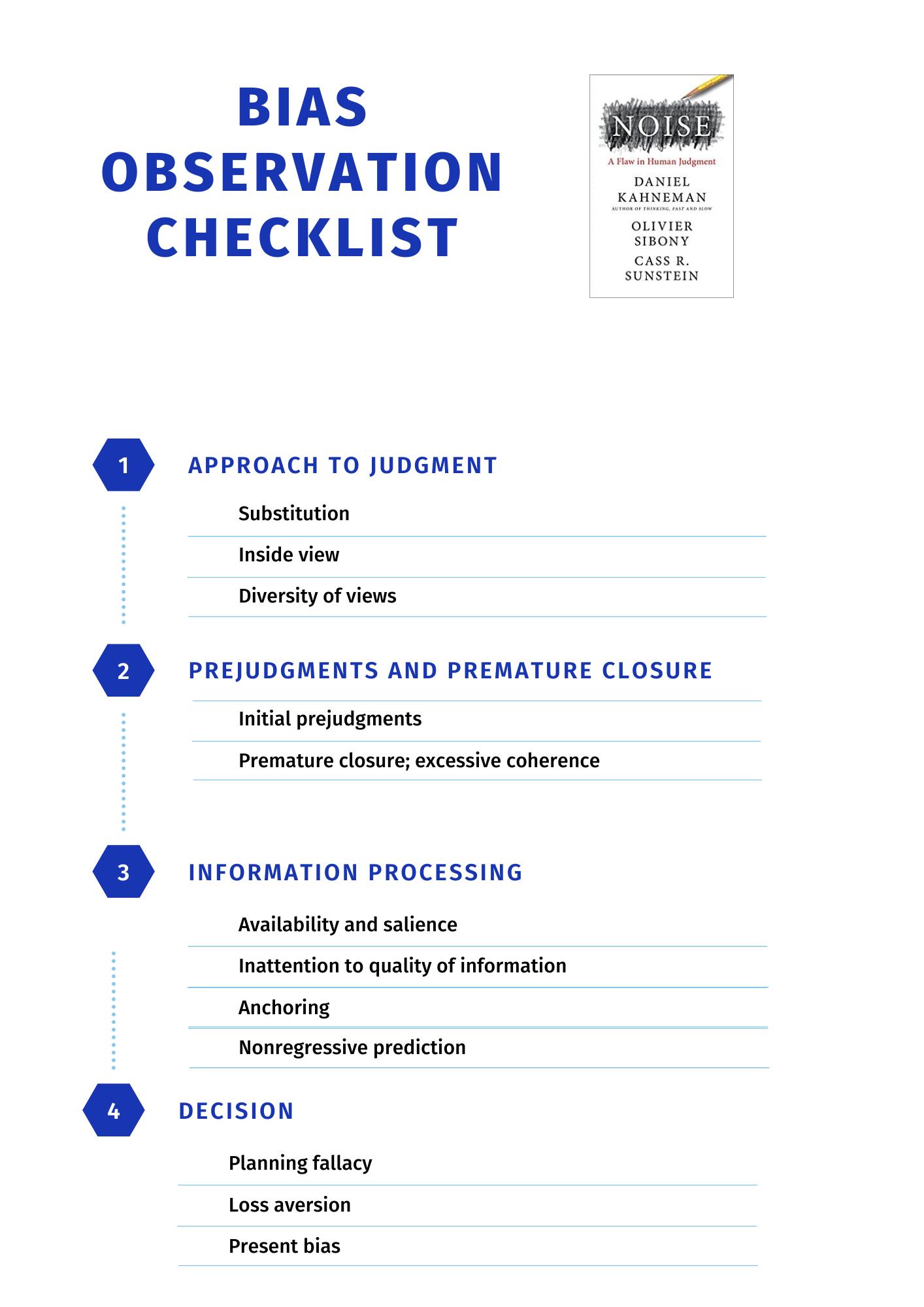 Noise Bias Checklist