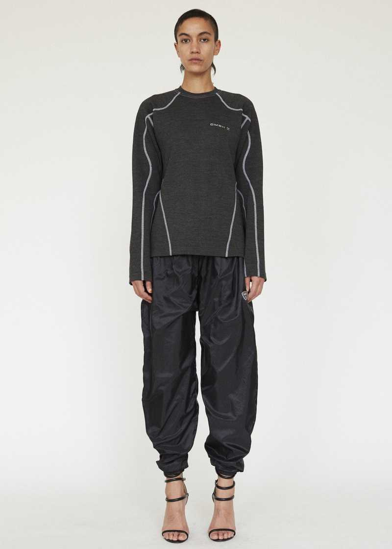 SEHER GMBH AW19 JOGGING TROUSERS BLACK FULL LOOK FEMALE