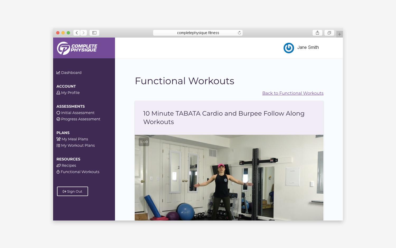 Website - Member workouts