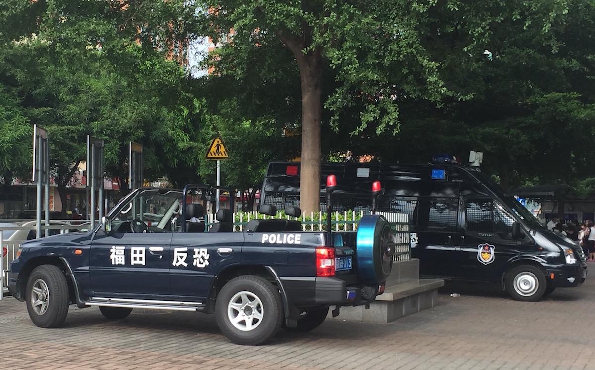 Chinese counterterrorism police vehicle