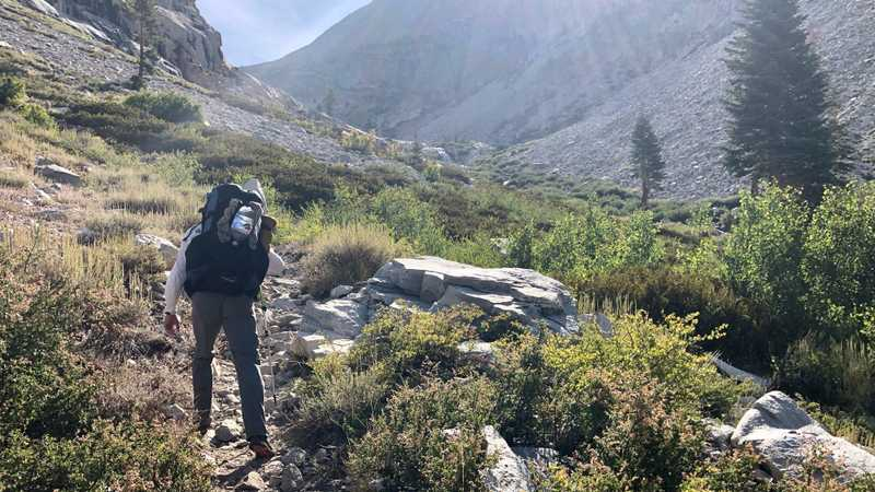 Pathfinder walks on the JMT and PCT