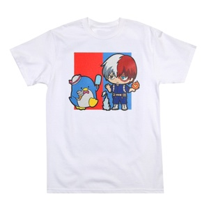 Hello Kitty & My Hero Academia Anime White Graphic Tee