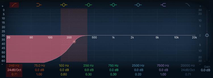 High-Pass Filter EQ