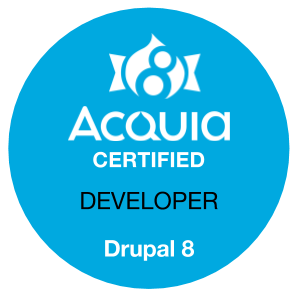 Acquia Certified Developer - Drupal 8 Exam Badge