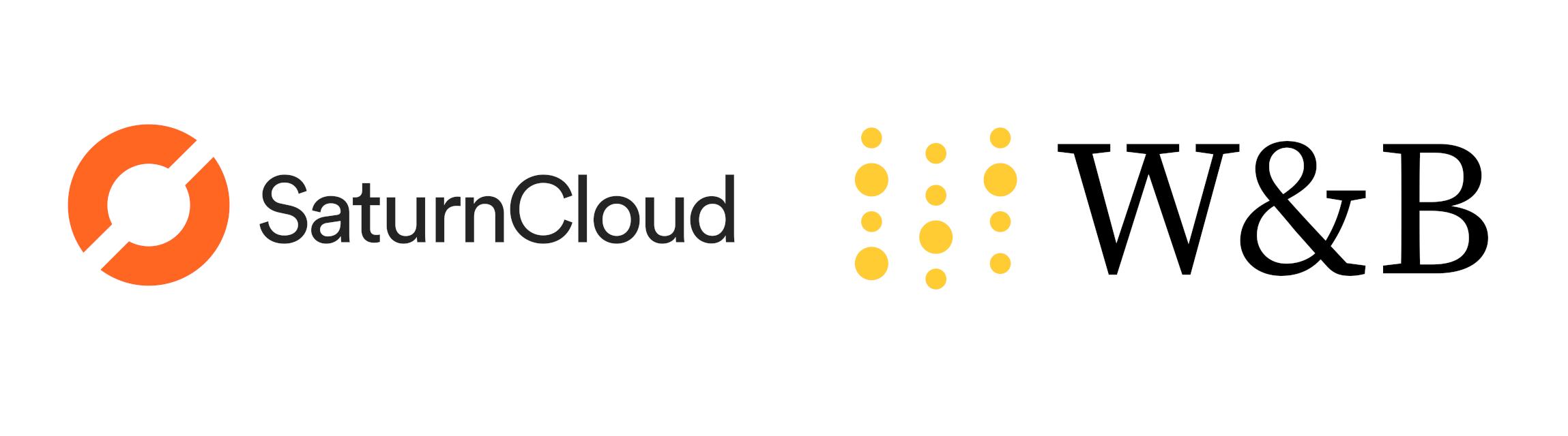 Saturn Cloud and Weights & Biases logos
