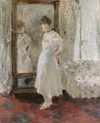 'La psyché' a 1876 painting by Berthe Morisot