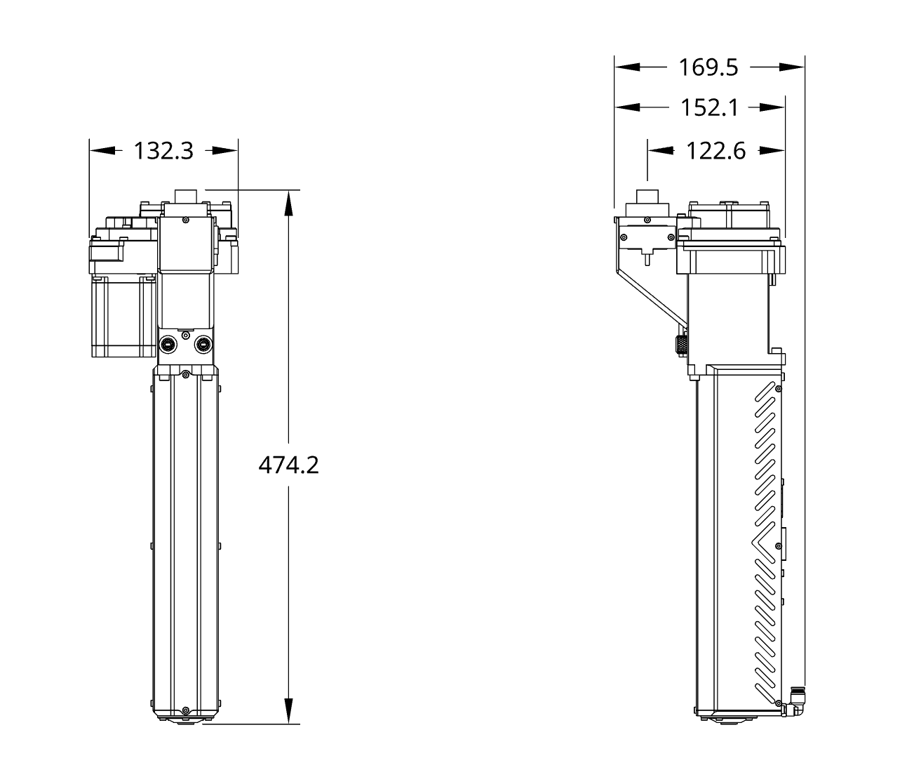 Pulsar™ Extruder Technical Drawing