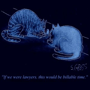 """If we were lawyers, this would be billable time."""