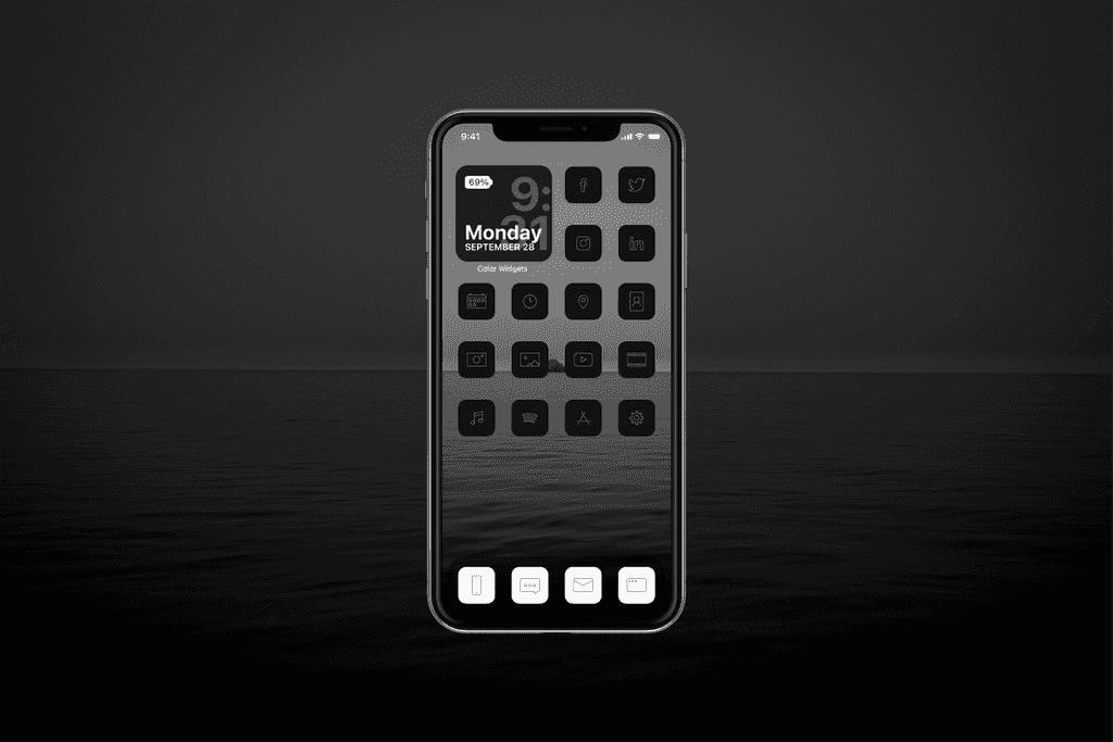 IOS 14 Black theme