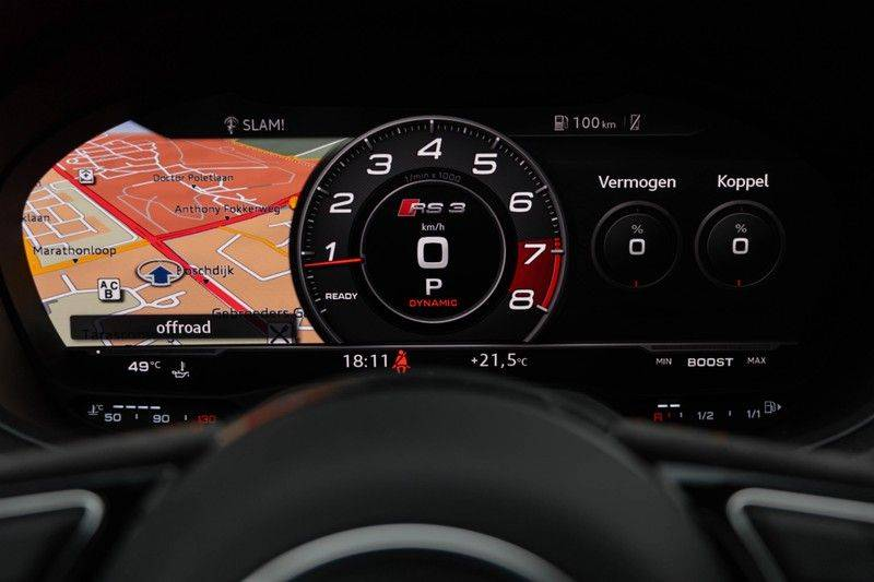 "Audi RS3 Sportback 2.5 TFSI 400pk Quattro Panoramadak BlackOptic B&O Sportstoelen Led-Matrix Navi/MMI DriveSelect Carbon ACC Keyless Camera 19"" Pdc afbeelding 22"