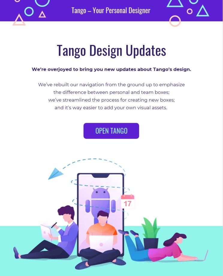 Tango design updates