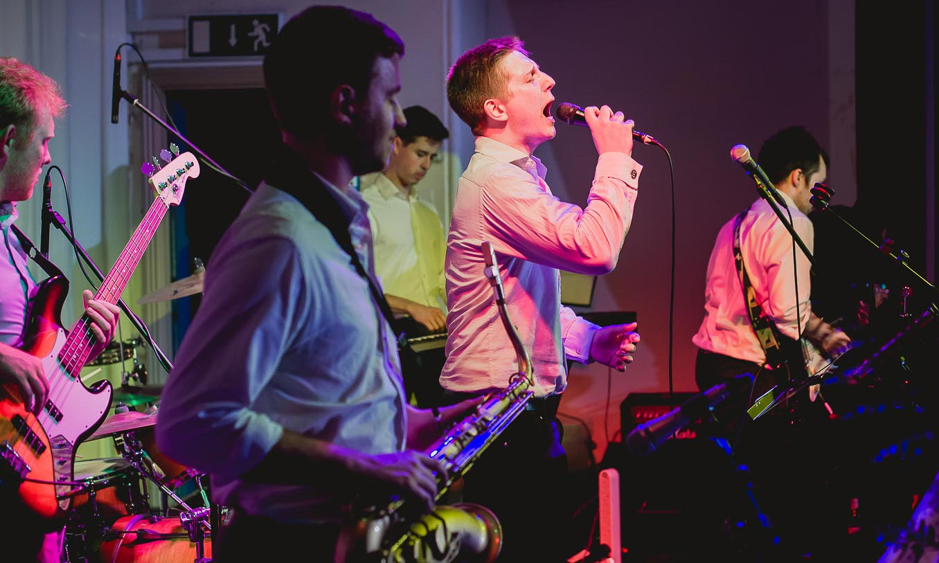 The Fitzroy Six perform at a wedding