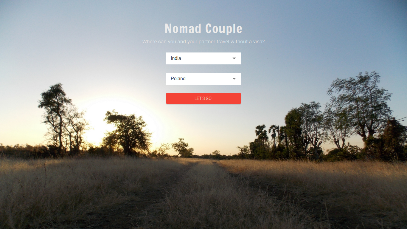Nomad Couple home page