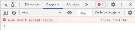 JavaScript console.error