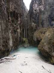 Ladder down to Togo Chasm