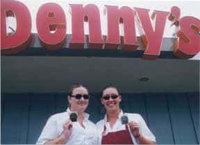 Laverne and Shirley at Denny's