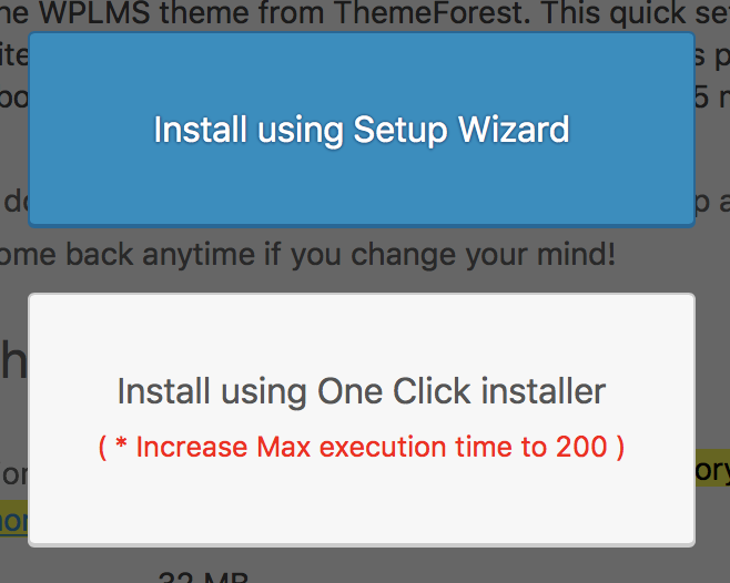 WPLMS one-click install