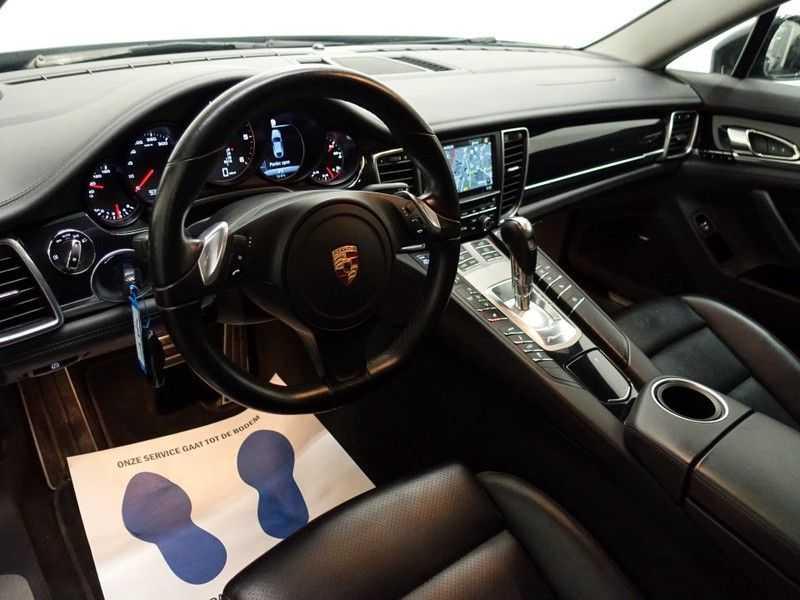 Porsche Panamera 3.0D Black Edition 300pk Autom- Schuifdak, Leer, Camera, Navi, Xenon, Memory, LMV afbeelding 15