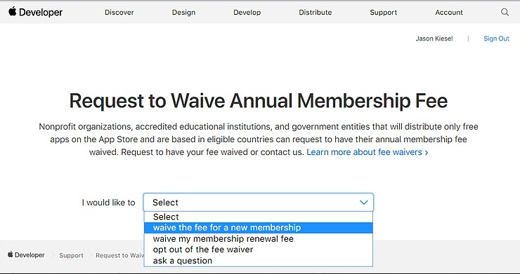 Membership Fee Waivers