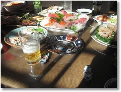 New Year Sashimi dish