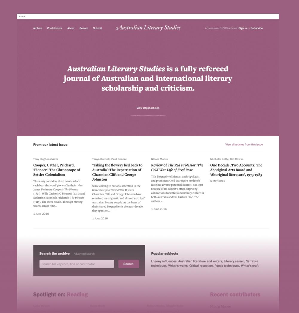 Australian Literary Studies site