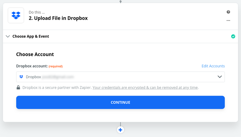 Connect to your Dropbox account