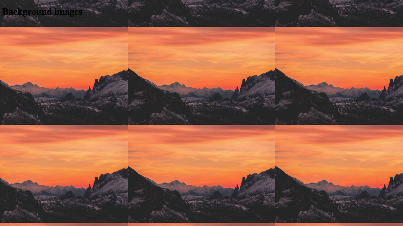 The mountains image is now tiled!