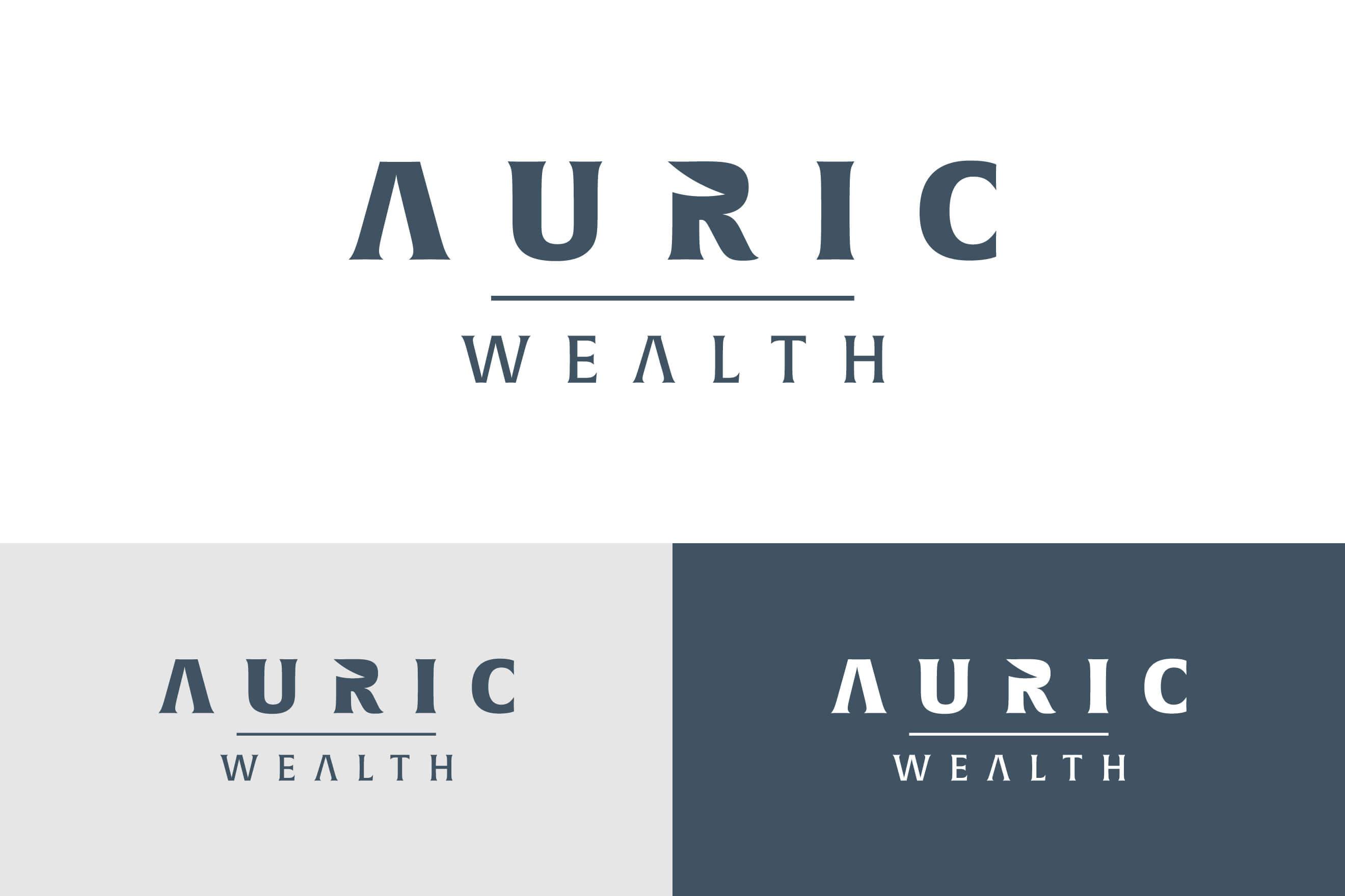 logo design for Auric Wealth
