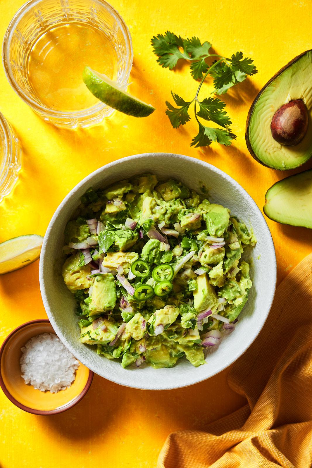 Classic homemade guacamole