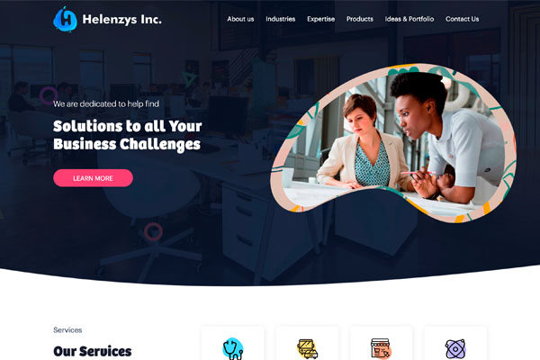 Screenshot of Helenzys Inc