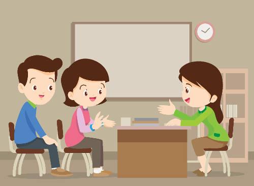 Parents asking math teacher questions