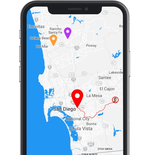 Real-time dispatching of navigation on phone