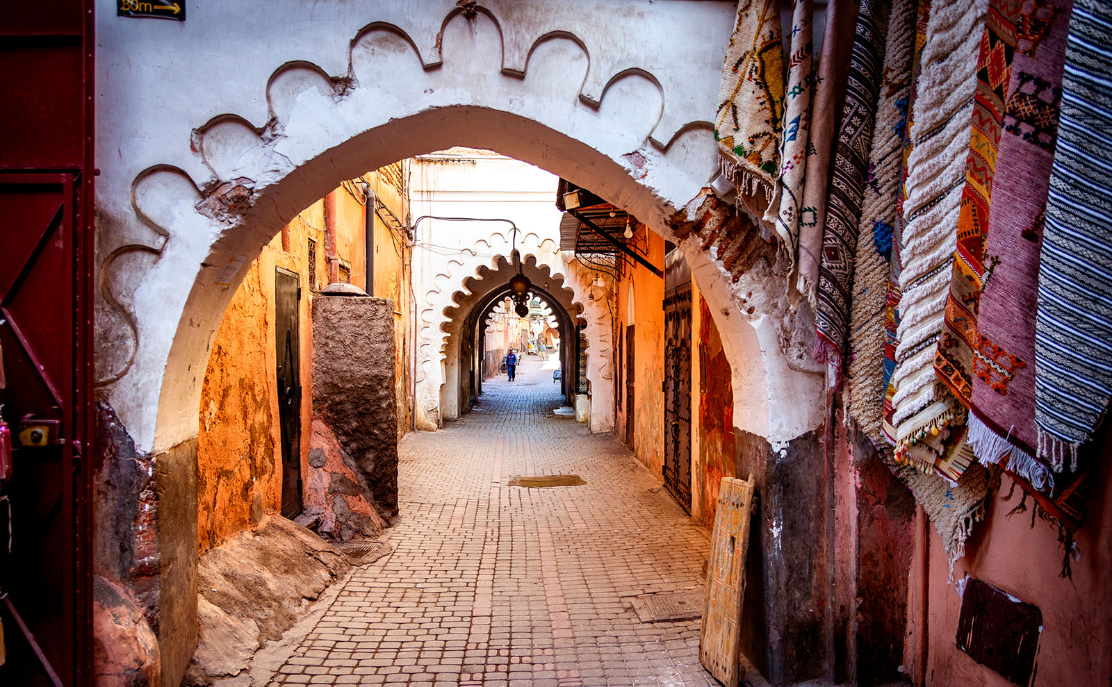 alley with arches in morocco