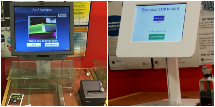 Our old and new self-service machines