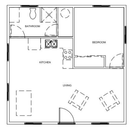 Ranch Pro Weekender tuff shed floor plan