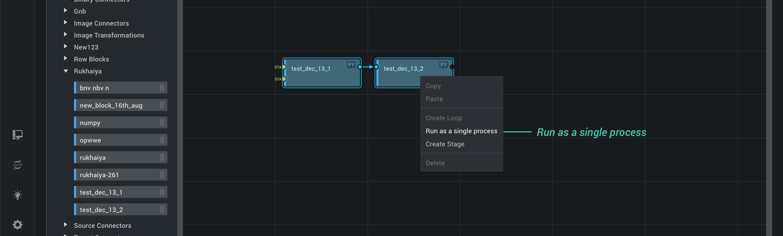Run Blocks in a Single Process
