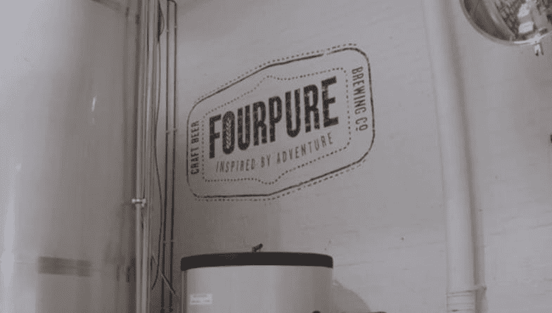 FourPure logo on wall #entrepreneur