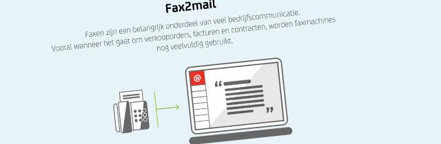 Bespaar kosten en integreer fax verkeer in uw digitale communicatie, met de Fax2mail functie van de Belfabriek.