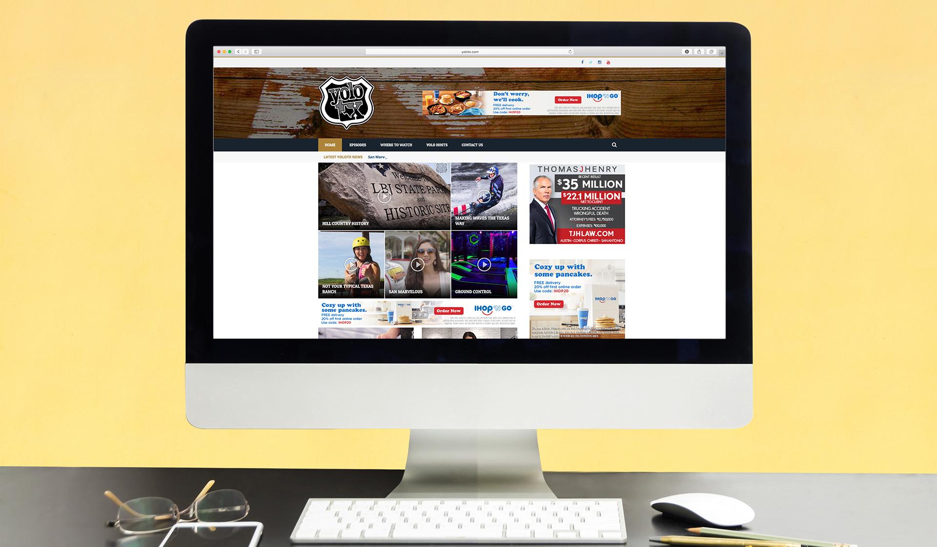 Yolo Website Mockup