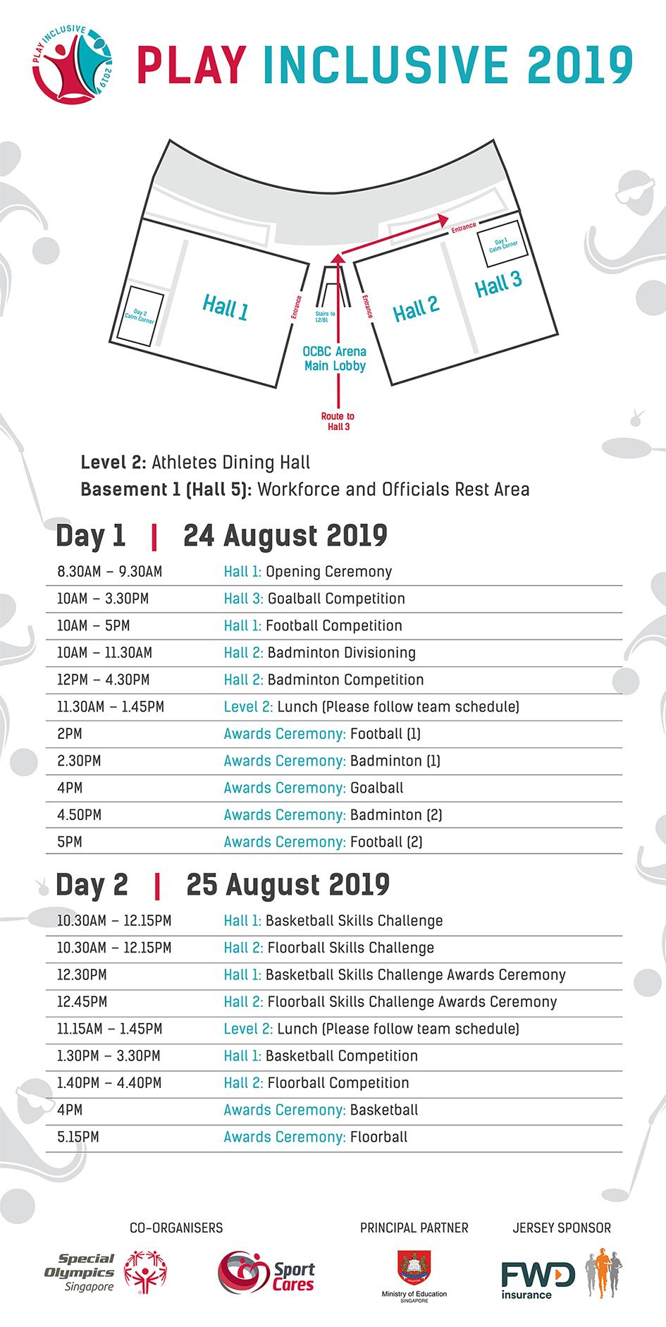 Play Inclusive 2019 General Schedule