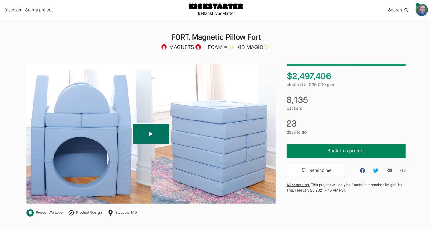 kickstarter 2 million