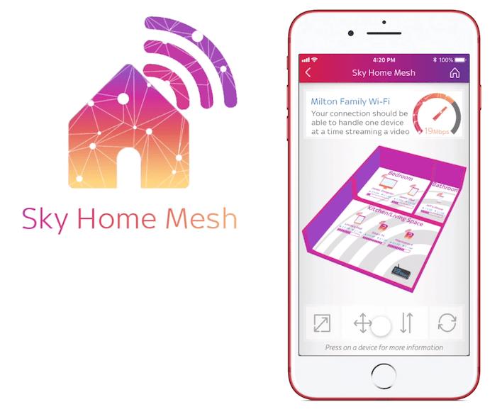 Sky Home Mesh - UX Design - App Concept