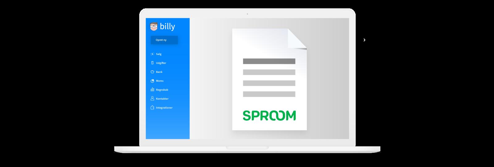 Billy Regnskabsprogram og Sproom E-fakturering