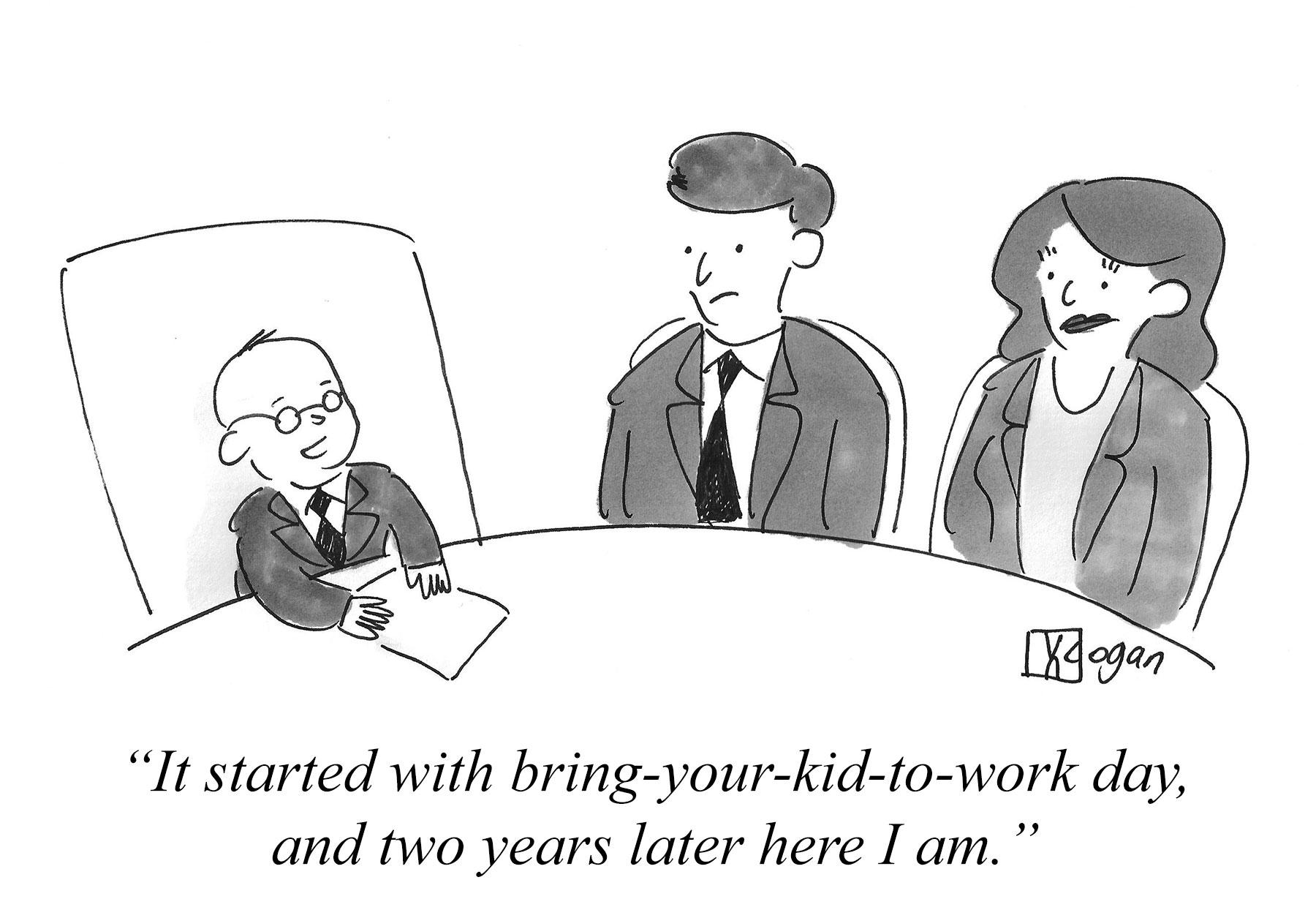 Cartoon about progression