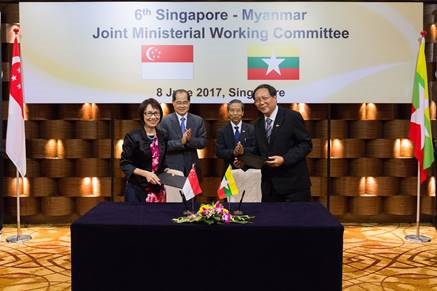 Photo of MoU signing with Myanmar