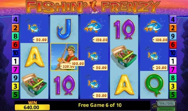 fishin frenzy merkur slot screenshot von freispielen mit gewinn und funktion