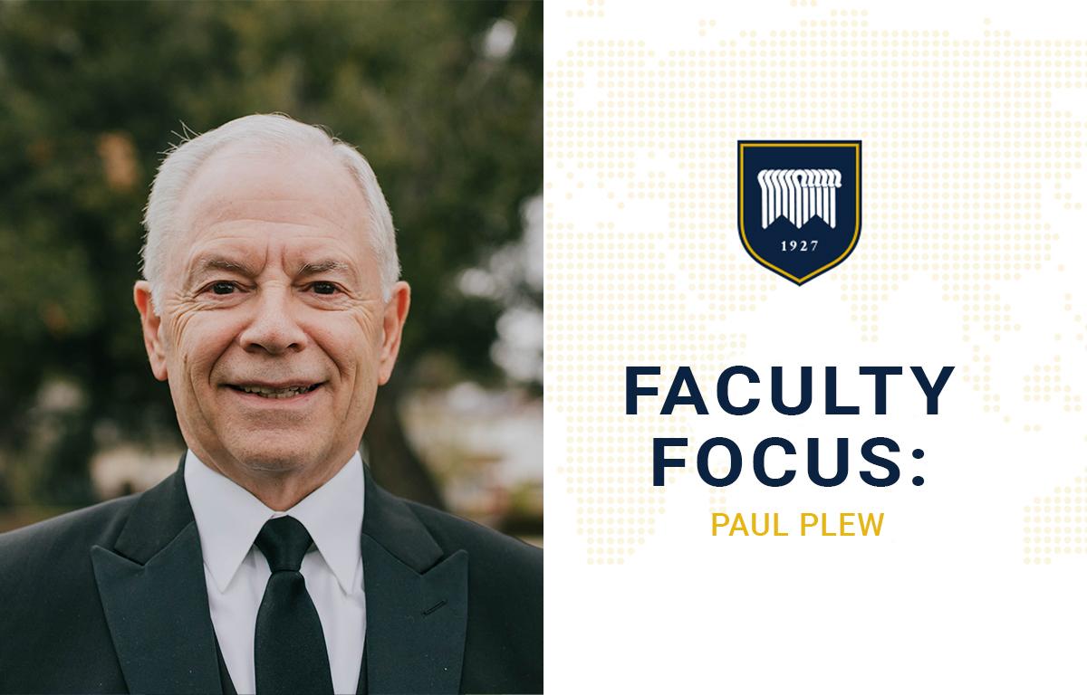 Faculty Focus: Paul Plew