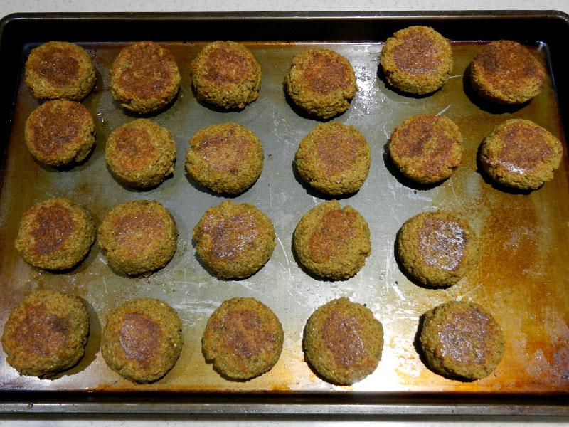 Finished Baked Falafel