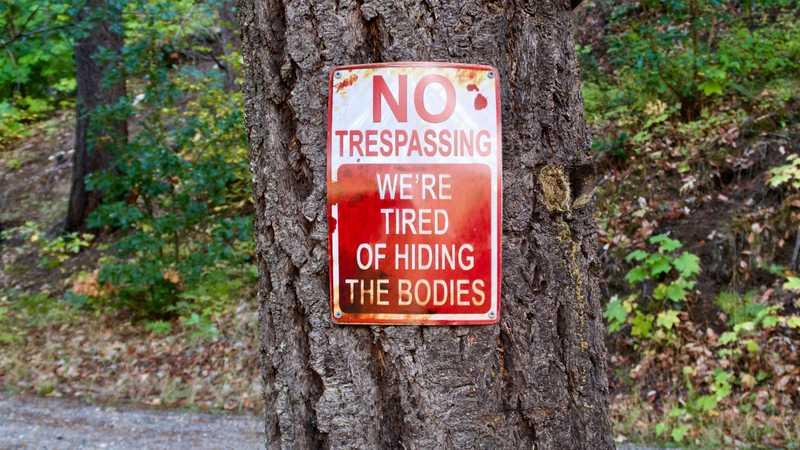 A No Trespassing sign